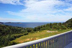 Photo Tour of Castle Rock Inn Ingonish Cape Breton Island Nova Scotia Cape Breton, Castle Rock, Atlantic Ocean, Nova Scotia, Tours, Island, Mountains, Beach, Water