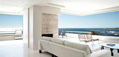 Take in the panoramic ocean views from your lounge at Blue Views Penthouse Cape Town Accommodation, Luxury Accommodation, V&a Waterfront, Sidewalk Cafe, Beautiful Villas, Beautiful Places, Penthouse Apartment, Beach Villa, Double Bedroom