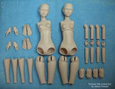 porcelain ball jointed dolls in pieces - But not the typical asian ball jointed doll