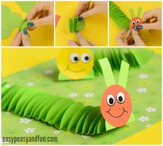 Adorable Paper Caterpillar Craft