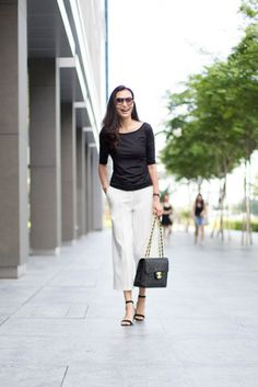 SHENTONISTA: Timeless. Fanny, Homemaker. Pants from Max Mara, Shoes from Charles & Keith, Bag from Chanel, Earrings from Swarovski, Watch from Bvlgari. #shentonista #theuniform #singapore #fashion #streetystyle #style #ootd #sgootd #ootdsg #wiwt #popular #people #male #female #womenswear #menswear #sgstyle #cbd #MaxMara #CharlesKeith #Chanel #Swarovski #Bvlgari