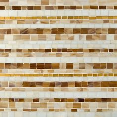 Artistic Tile | Jazz Glass Collection; New Orleans with Gold Louie Linear