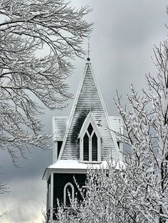 https://flic.kr/p/5UhBun | Snowy Steeple