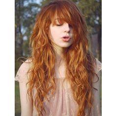 orange hair   Tumblr - Polyvore