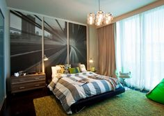 Charming Modern Teenage Boy Room Design Ideas with Beautiful Wall Decor Bedroom Green, Small Room Bedroom, Small Rooms, Bedroom Ideas, Bedroom Designs, Green Bedrooms, Bedroom Pictures, Bedroom Images, Bedroom Decor