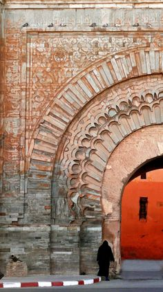 Bab Agnaou, Marrakesh, Morocco - The most beautiful gate in the ramparts of Marrakesh, this 900 year-old arch once led to the Royal Palace.