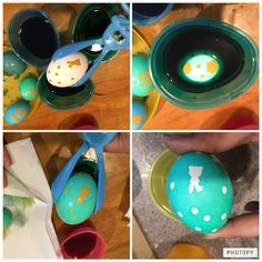 Vinyl decals for Easter eggs. Use 651. Soak in regular egg dye. Let dry. Remove decals.