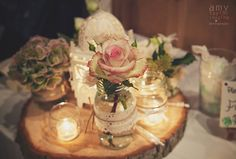 Love, lanterns, hearts and glass jars for a rustic barn wedding at Hellens Manor, Herefordshire