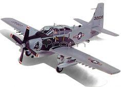 "Douglas A-1E Skyraider ""Flying Dump Truck"" Kampfflugzeug | Vintage Modellbausatz, im Maßstab 1:72, von Monogram (1973) | http://www.cyram-entertainment.de/shop/products/Modellbau/Militaer/Luftfahrzeuge/2-Weltkrieg/Douglas-A-1E-Skyraider-Flying-Dump-Truck.html"