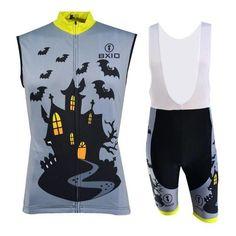 Men's Grey Sleeveless Cycling Jersey Set #Cycling #CyclingGear #CyclingJersey #CyclingJerseySet