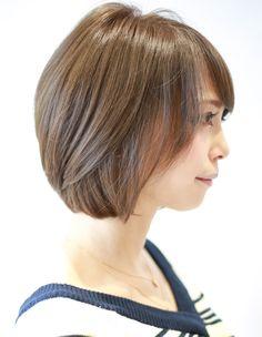 小顔になる前髪ありのショートボブ(Ss-331) | ヘアカタログ・髪型・ヘアスタイル|AFLOAT(アフロート)表参道・銀座・名古屋の美容室・美容院