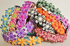 Flower Dog Collars from @Rustic Hound