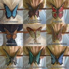 MADE TO ORDER Butterfly Moth Hair Slide Leather by angelicshades, $30.00