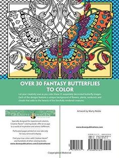 Creative Haven Fantasy Butterflies Coloring Book Adult