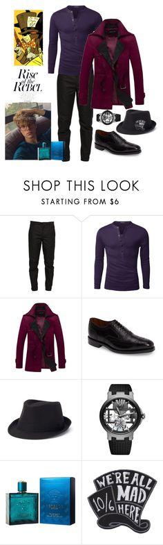 """Jeremy Tetch"" by harley-quinn13 ❤ liked on Polyvore featuring Maison Margiela, Doublju, Allen Edmonds, Urban Pipeline, Ulysse Nardin, Versace, men's fashion and menswear"