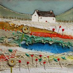 'Almond cottage' by Louise O'Hara of DrawntoStitch https://www.etsy.com/uk/shop/Drawntostitchdotcom