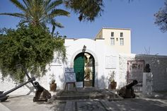 Bouboulina's Mansion in Spetses Visit Greece, Island, Mansions, House Styles, Places, Travel, Viajes, Islands, Fancy Houses