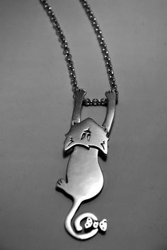 Cat Necklace Handmade Sterling Silver 'Miss by DappledFox