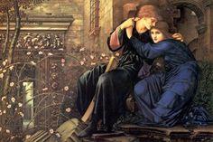 Эдуард Берн-Джонс. Любовь среди руин. 1893 г. Галерея Тейт, Лондон