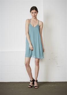 Show details for Corinne Dress  - Greyish Aqua