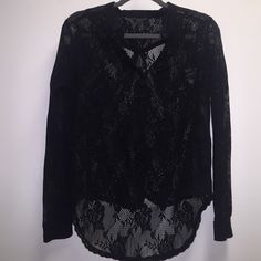 GUESS Black Lace Top Black lace top from GUESS. Used gently. Final price Guess Tops Blouses