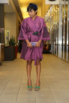 life+style: Kimono, peacock feathers and velvet hair bow
