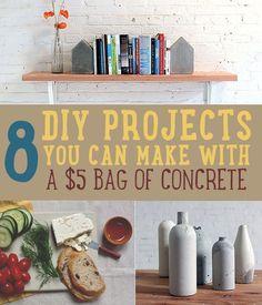 DIY Concrete Crafts | 8 Creative Concrete Ideas #diy #projects #concrete http://diyready.com/concrete-crafts-8-creative-concrete-ideas/