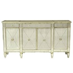 antique silver paint mirrored borghese buffet z gallerie borghese mirrored furniture
