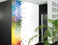 Photo Wall Mural Colourful Pixel Wallpaper Wall art Wall decor Colored Squares | eBay