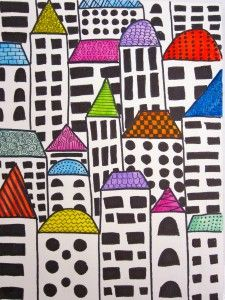 """""""Rainbow Rooftops"""" by Mary Margaret Fulk"""