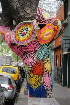 Do you think you could be a Yarn Graffiti artist? Win 9 Balls of Yarn With Lion Brand and find out!  Re-pin and click here for all the details http://womanfreebies.com/sweepstakes/win-lion-brand-yarn/?yarnbomb
