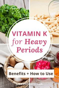 As far as home remedies for heavy menstrual cycles go, vitamin K is often overlooked. This article gives you the research about vitamin k and estrogen, and explains why some experts connect vitamin K to heavy periods. You also get details on vitamin K supplements for excessive menstrual bleeding, plus food sources of vitamin K for your menstrual cycle diet. Vitamin K Foods, Vitamin K1, Vitamin K Deficiency, Beef Liver, Menstrual Cycle, Fermented Foods, Connect, Period, Remedies