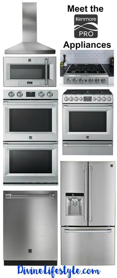 """Building the kitchen of your dreams? Do yourself a favor and checkout the Kenmore PRO line of appliances. Sleek, stylish and uber functional. We are crushing hard on the Kenmore Pro 30"""" Electric Double Wall Oven in Stainless Steel. You can even schedule an appointment with an Expert (details coming soon)."""
