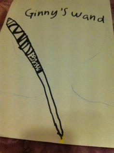 Piirsin tollasen Ginnyn taikasauvan kommentoikaa ja mitä kansioita haluutte? Kommentoiikaa!