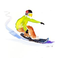snowboard 3, Haley Mistler watercolor illustration