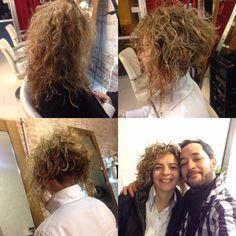 Cambios de look en pelos rizados rebajando la nuca y dando volumen para generar un estilo elegante. www.waltermaciel-estilites.com
