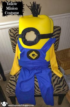 Running away? I'll help you pack.: Boo to you from our crew - DYI Minion Costumes Made