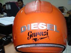 Diesel Mowie Helmet back side Scooter Helmet, Diesel, Diesel Fuel