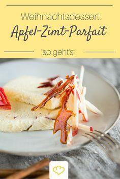 Auf der Suche nach einem Dessert für Weihnachten? Für dieses Apfel-Zimt-Parfait wirst du Beifall ernten!