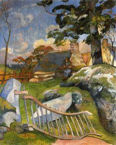 Paul Gauguin, The Gate on ArtStack #paul-gauguin #art