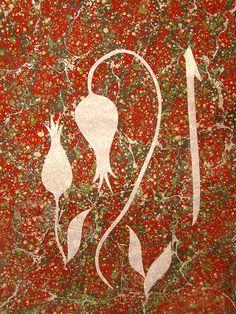 Akkase Ebru – Home Trends 2020 Islamic Art, Stencils, Rock, Christmas Ornaments, Holiday Decor, Drawings, Paper, Website, Tulips