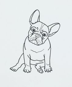"French Bulldog ""Frenchie"" illustration by, @thepapermama."