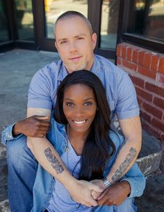 Preston and Rashayne ~ Cute interracial couple attending