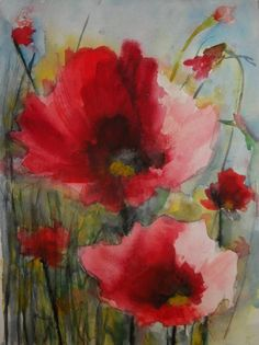 Red Poppies XI, Karin Johannesson