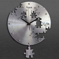Fun and functional clock with an amazing puzzle cut-out design!!!