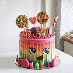 Cutest candy themed cake (cute baking recipes) Cutest candy themed cake (cute baking recipes) , Related posts:How to Get Wider Hips, Bigger Hips In a Week Naturally– What Actually Works . Candy Cakes, Cupcake Cakes, Candy Theme Cake, Lollipop Cake, Baby Food Recipes 6 9, Baking Recipes, Baking Ideas, Cake Recipes, Food Baby