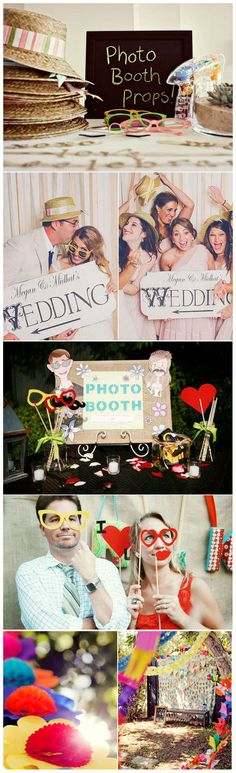 photo booth... I wanna set up a station like this somehwere at my reception.... :p
