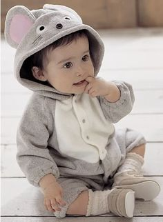 Cute Baby Infant Onesie Romper Party Costume Outfit Clothes - 5 Designs Available: Cow, Honeybee, Lady Bug, Mouse and Panda