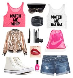 """Crazy dance party"" by boe306 ❤ liked on Polyvore featuring beauty, AG Adriano Goldschmied, Sans Souci, Converse, NIKE, Marc by Marc Jacobs, ABS by Allen Schwartz, Smith & Cult, Rodial and Jouer"