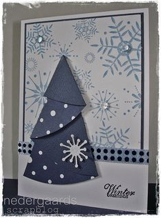 Love the blue Chrismas Cards, Christmas Cards To Make, Xmas Cards, Handmade Christmas, Holiday Cards, Holiday Gift Tags, Christmas Crafts, Hanukkah Cards, Fun Fold Cards